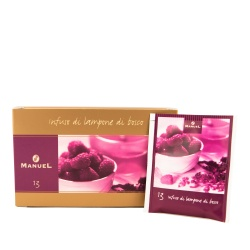 Tea in bags Manuel Caffé Raspberry, 20 pcs.