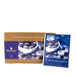 Tea in bags Manuel Caffé Berries with wild rose, 20 pcs.