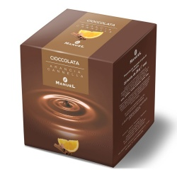 Hot chocolate Manuel Caffé Orange - Cinnamon, 560g