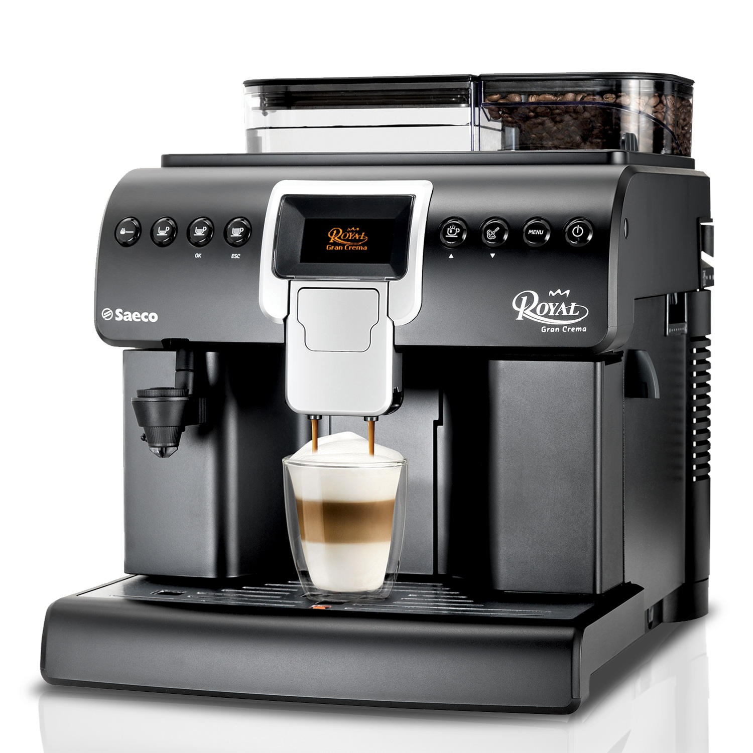 automatic bean to cup coffee machine saeco royal grand crema. Black Bedroom Furniture Sets. Home Design Ideas