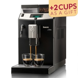 Coffee machine Saeco Lirika Black with cups
