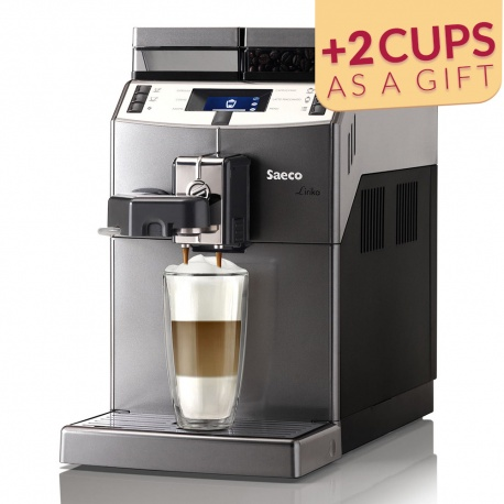 Coffee machine Saeco Lirika OTC with cups